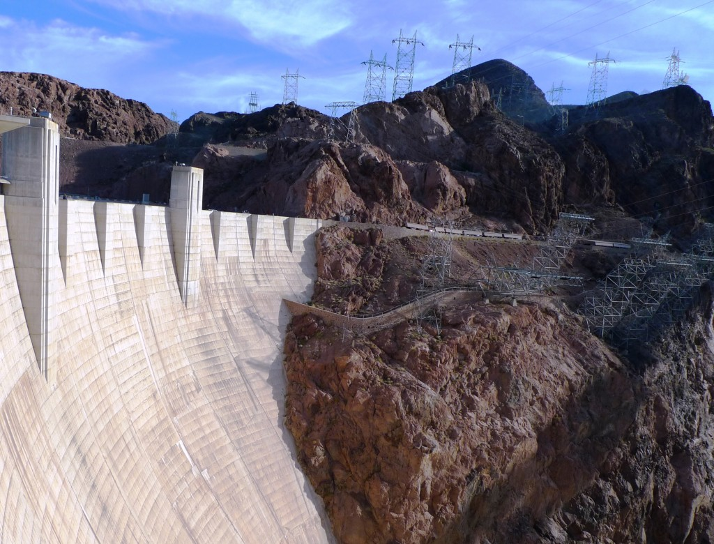 Hoover Dam and transmission lines